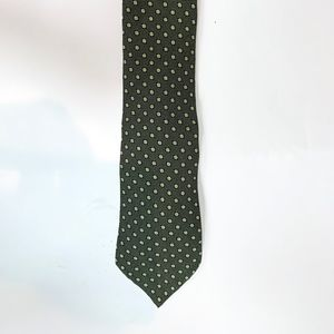 Georgio Armani Green Polka Dot Tie